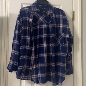 Rails Navy Long Sleeve Plaid Shirt